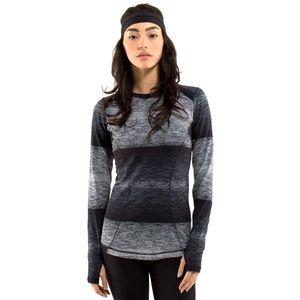 Lululemon Base Runner Long Sleeve Universal Stripe